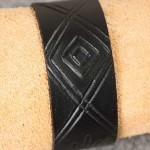 Läderarmband-02 svart