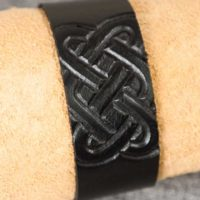 Läderarmband-04 svart