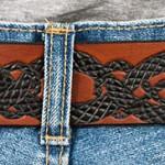 Läderbälte-Drake bak brun