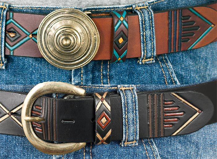Breda bälten med mönster