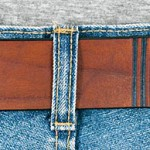 Läderbälte brun bak