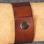 Läderarmband-02 brun