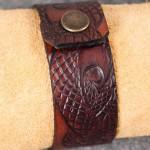 Läderarmband-05 brun