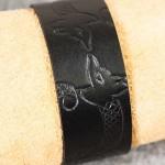 Läderarmband-05 svart