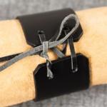Läderarmband 40 svart