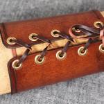 Läderarmband 95 brun