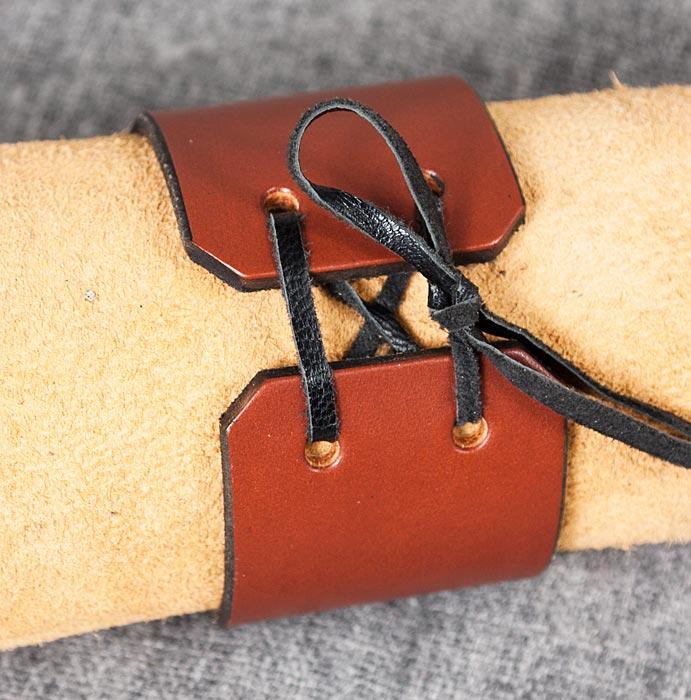 Läderarmband 40 brun
