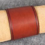 Läderarmband 55 brun