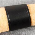 Läderarmband 55 svart