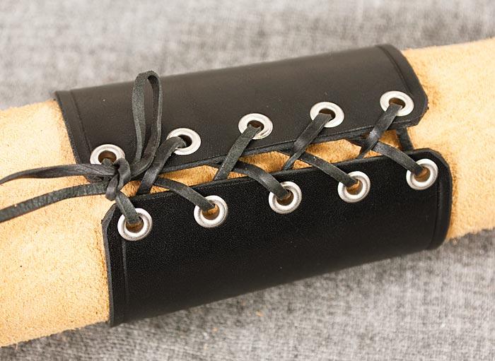 Läderarmband 95 svart