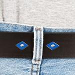 Läderbälte-silverspänne