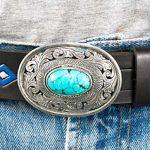 Läderbälte 35mm svart-silverspänne