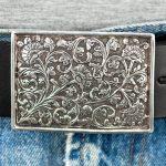 Läderbälte-silverspänne 2