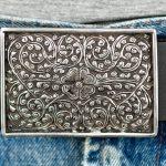 Läderbälte-silverspänne 1
